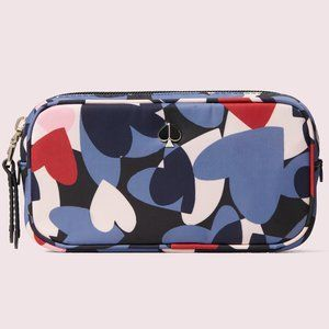 KATE SPADE Taylor Heart Party Cosmetic Case